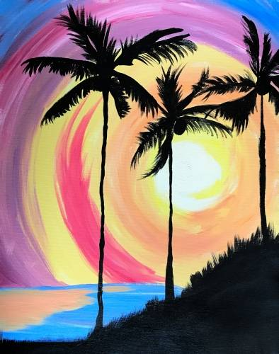 A Island Tropics paint nite project by Yaymaker