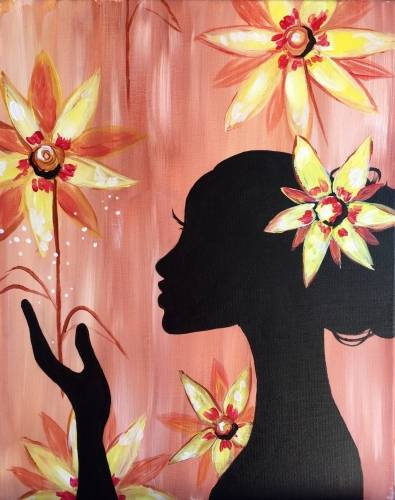A Queen of the Sunflowers paint nite project by Yaymaker