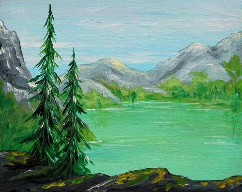A Rocky Mountain Views paint nite project by Yaymaker