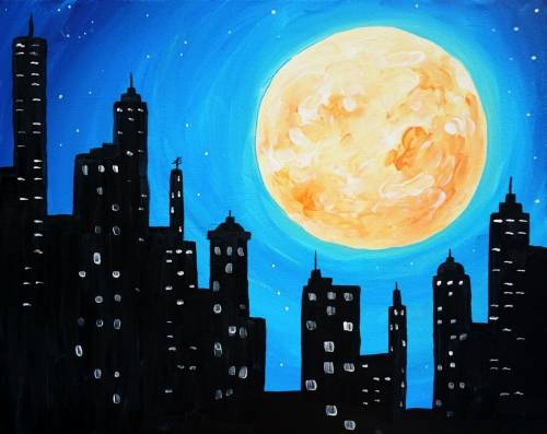 A Harvest Moon in the City paint nite project by Yaymaker