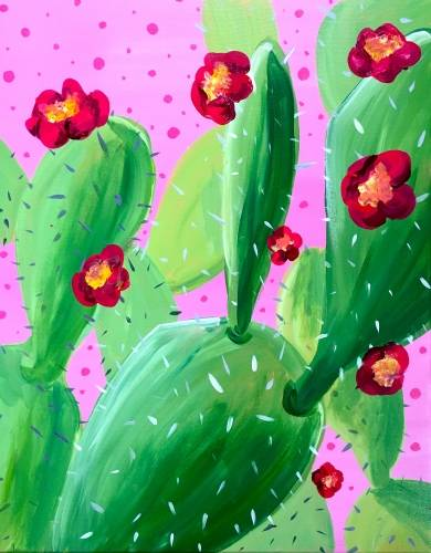 A Cactus Fiesta paint nite project by Yaymaker