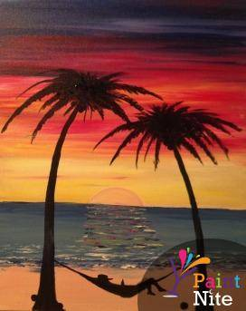 A Beer in Paradise Banana Hammock optional paint nite project by Yaymaker