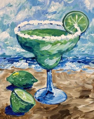 A I Want a Margarita paint nite project by Yaymaker