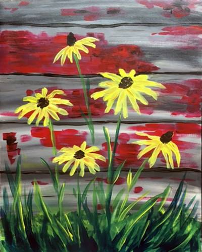 A Barnyard Susans paint nite project by Yaymaker