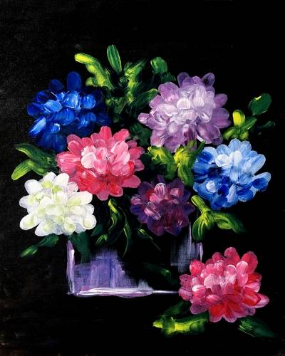A Hydrangea Vase paint nite project by Yaymaker