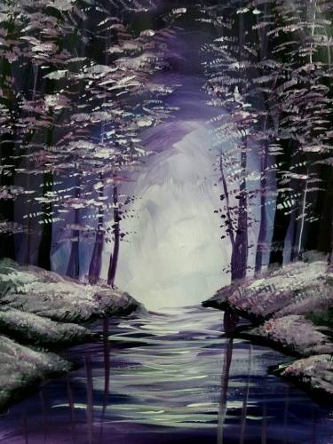 A Lavender Deep Reflections paint nite project by Yaymaker