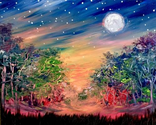 A Night Magic paint nite project by Yaymaker