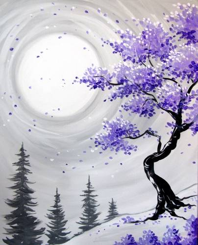 A Murasaki Cherry Blossoms paint nite project by Yaymaker