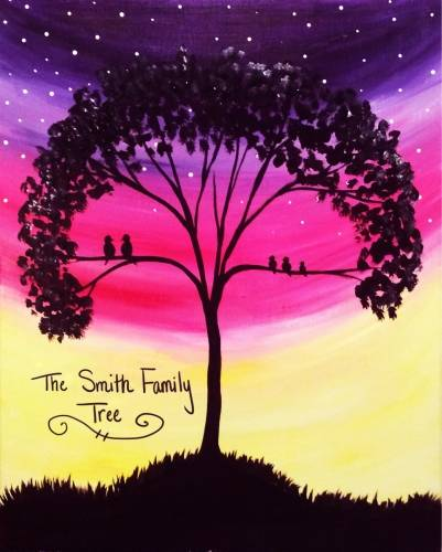 A My Perfect Family Tree paint nite project by Yaymaker