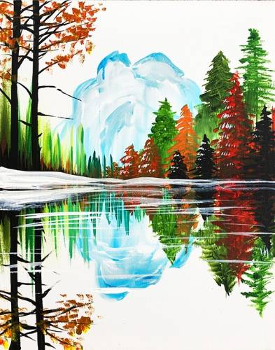 A Fall Landscape by the Lake paint nite project by Yaymaker