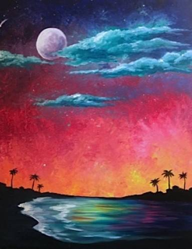 A Tropical Island Fantasy II paint nite project by Yaymaker