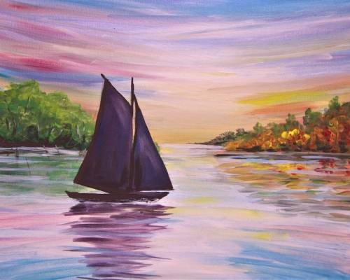 A Sailing Into Autumn paint nite project by Yaymaker