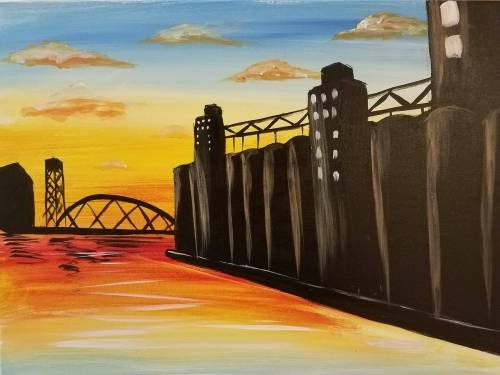 A Silo Sunset paint nite project by Yaymaker