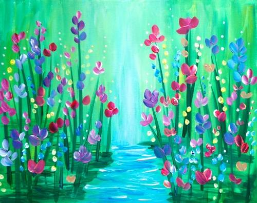 A Blooming Stream paint nite project by Yaymaker