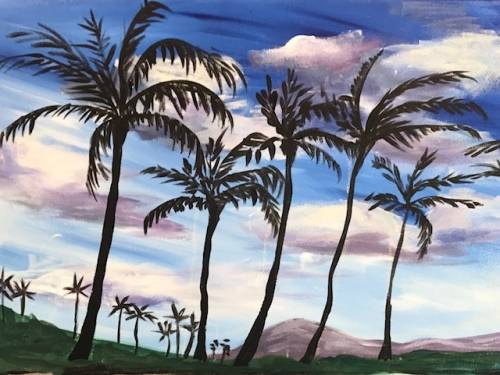 A Blue Skies paint nite project by Yaymaker