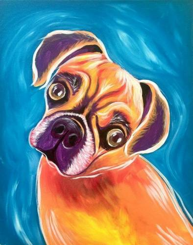 A Paint Your Pet Event paint nite project by Yaymaker