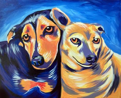 A Paint Your Pet Event V paint nite project by Yaymaker