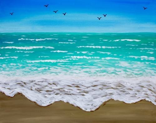 A Waves on the Shore paint nite project by Yaymaker
