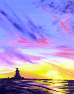 A The Sun Sets Purple paint nite project by Yaymaker