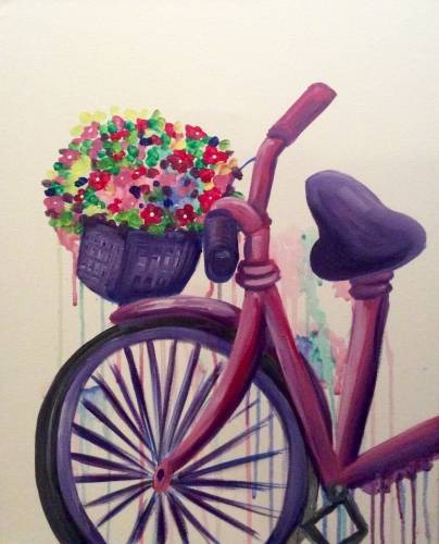 A Watercolor Wheels paint nite project by Yaymaker