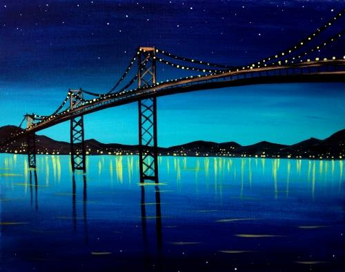 A Midnight Bridge paint nite project by Yaymaker