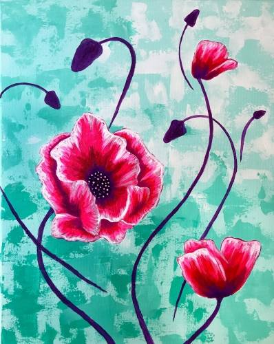 A Fanciful Flowers paint nite project by Yaymaker