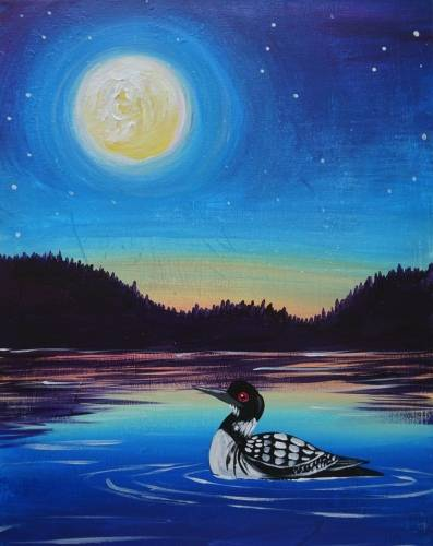 A Twilight Loon paint nite project by Yaymaker