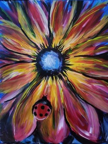 A Lady Flower paint nite project by Yaymaker