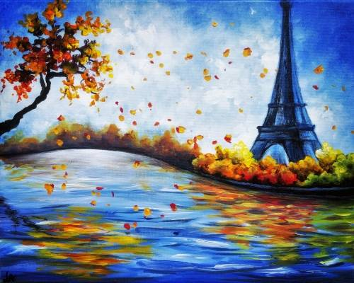 A Falling For Paris II paint nite project by Yaymaker
