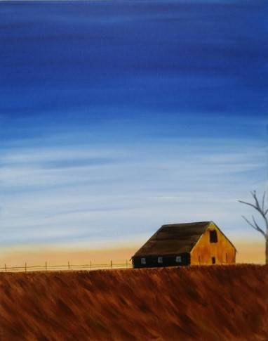 A Big Sky Barn paint nite project by Yaymaker