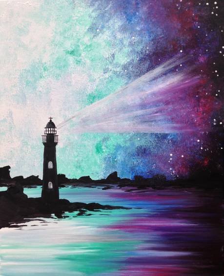 A Galaxy Lighthouse III paint nite project by Yaymaker