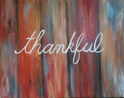 A Thankful paint nite project by Yaymaker