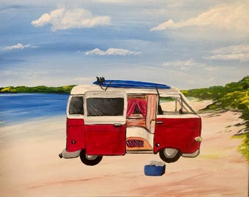 A Beach Bulli paint nite project by Yaymaker