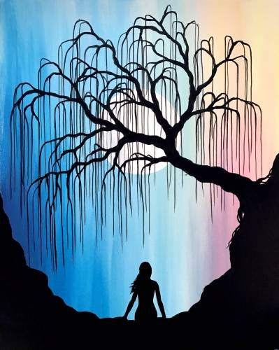 A The Wishing Willow paint nite project by Yaymaker