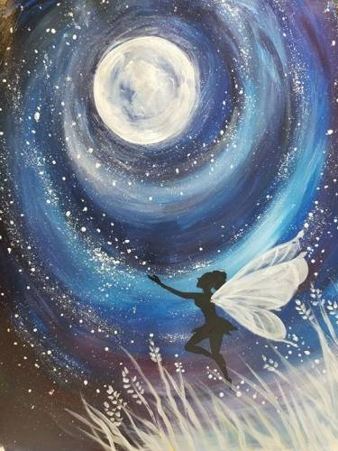 A Flying in the Moonlight paint nite project by Yaymaker