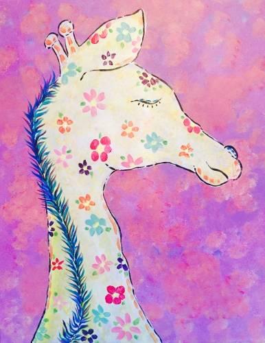 A Boho Giraffe paint nite project by Yaymaker