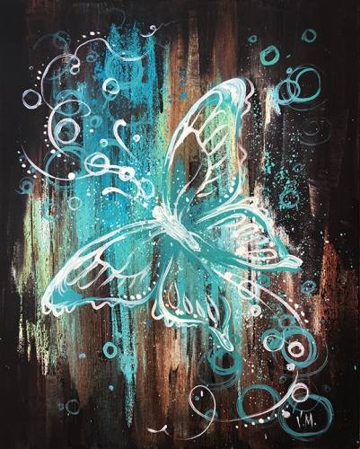 A Ethereal Butterfly paint nite project by Yaymaker