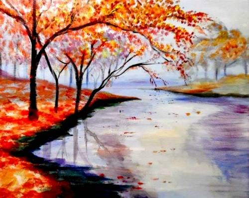 A Fall River Sunrise paint nite project by Yaymaker