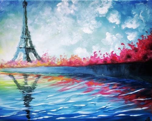 A Teal Paris paint nite project by Yaymaker