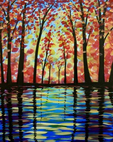 A Fall Reflection paint nite project by Yaymaker