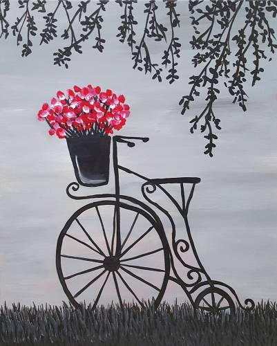 A Antique Bicycle paint nite project by Yaymaker
