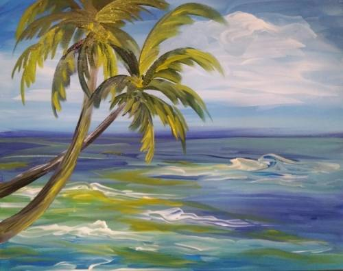 A Tropical Dream paint nite project by Yaymaker