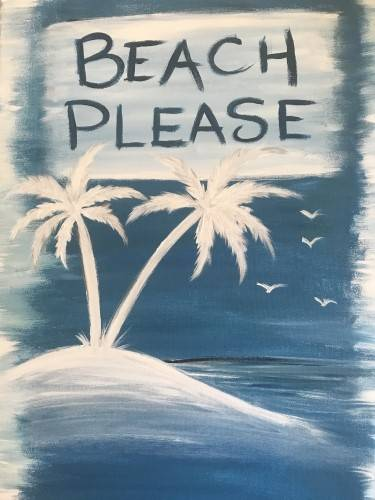 A Beach Please paint nite project by Yaymaker
