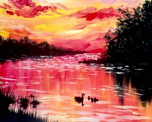 A Lake Life paint nite project by Yaymaker