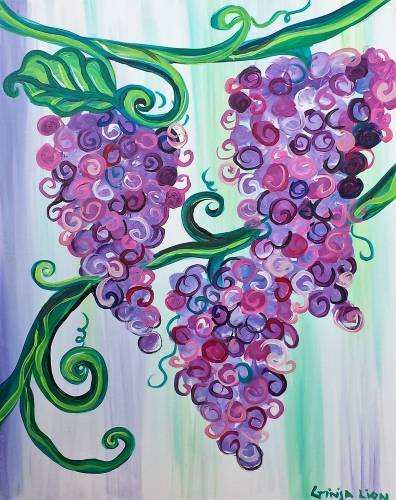 A Swirly Grapevine paint nite project by Yaymaker