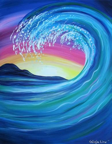 A The Winding Wave paint nite project by Yaymaker