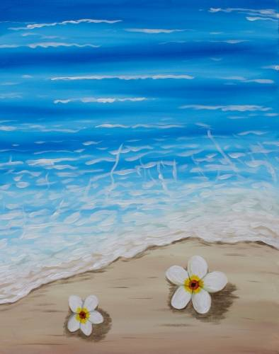 A Flowers by the Shore paint nite project by Yaymaker