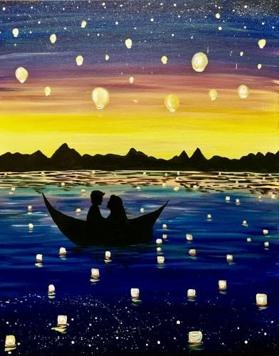 A Love Lights paint nite project by Yaymaker