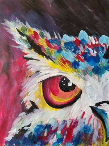 A I Dont Give a Hoot paint nite project by Yaymaker