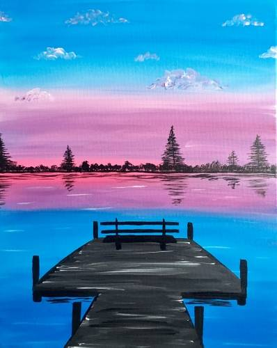 A Lakeside on the Dock paint nite project by Yaymaker